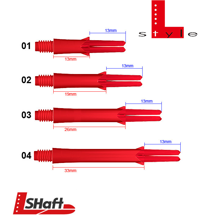 L-STYLE Shafts Locked Straight Red