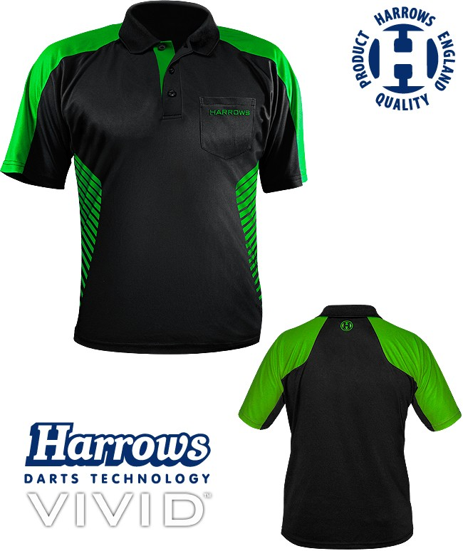 HARROWS Vivid Shrit black/green