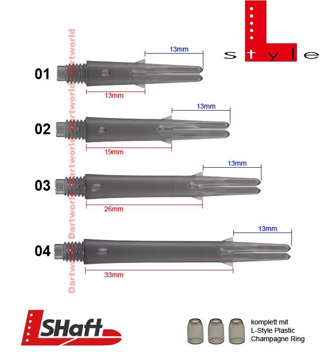 L-STYLE L-Shaft Lock Straight Clear Black