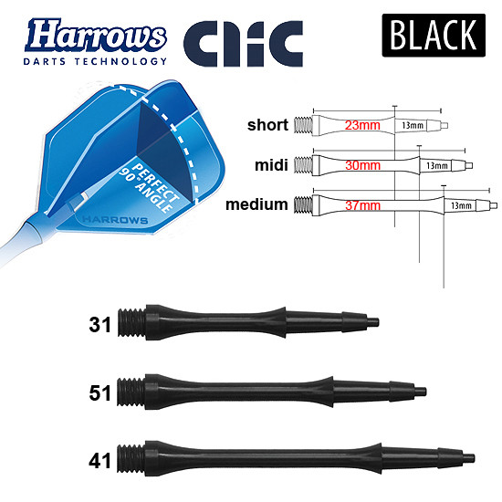 HARROWS Clic Shafts black