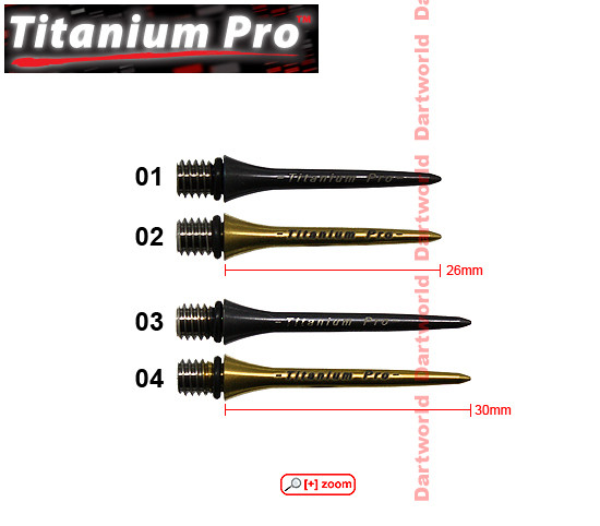 TARGET Pro Titanium Points black/gold