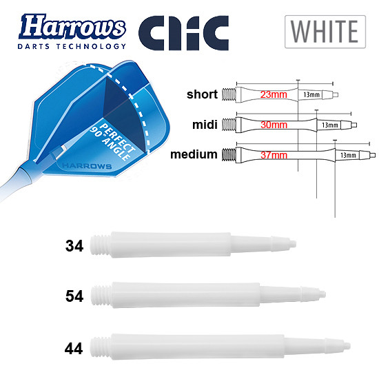 HARROWS Clic Shafts Standard white