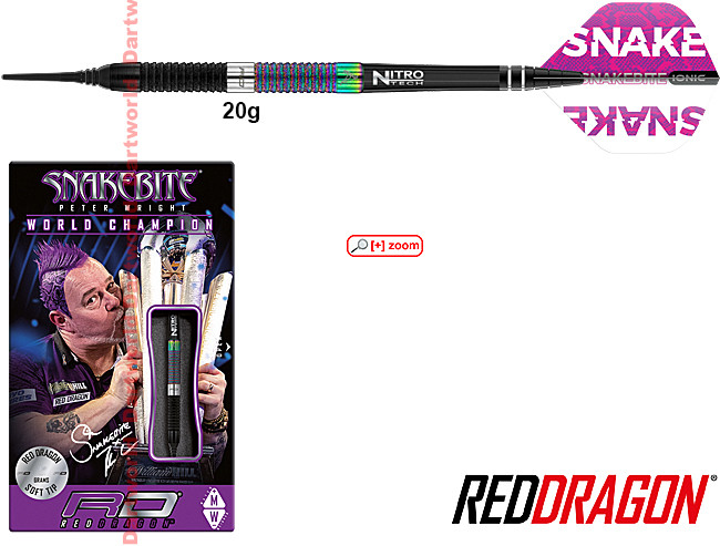 RED DRAGON Peter Wright WC Diamond SE 90% Soft