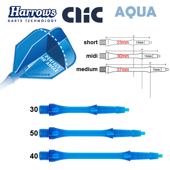 HARROWS Clic Shafts aqua