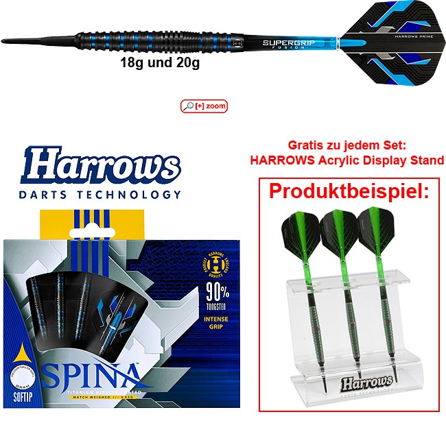 HARROWS Spina 90% black/blue