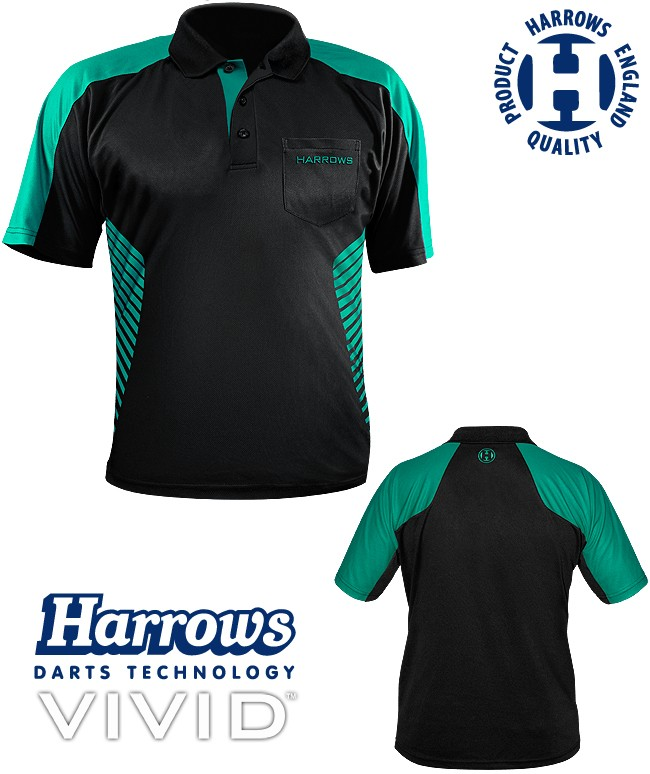 HARROWS Vivid Shirt black/jade