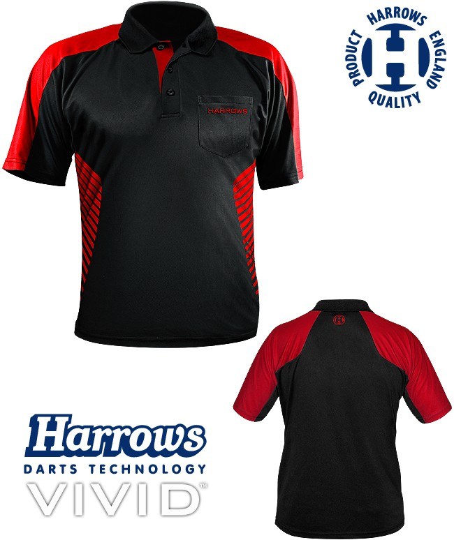 HARROWS Vivid Shirt black/fire-red