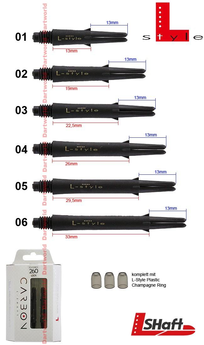 L-STYLE L-Shaft Carbon Lock Straight Black