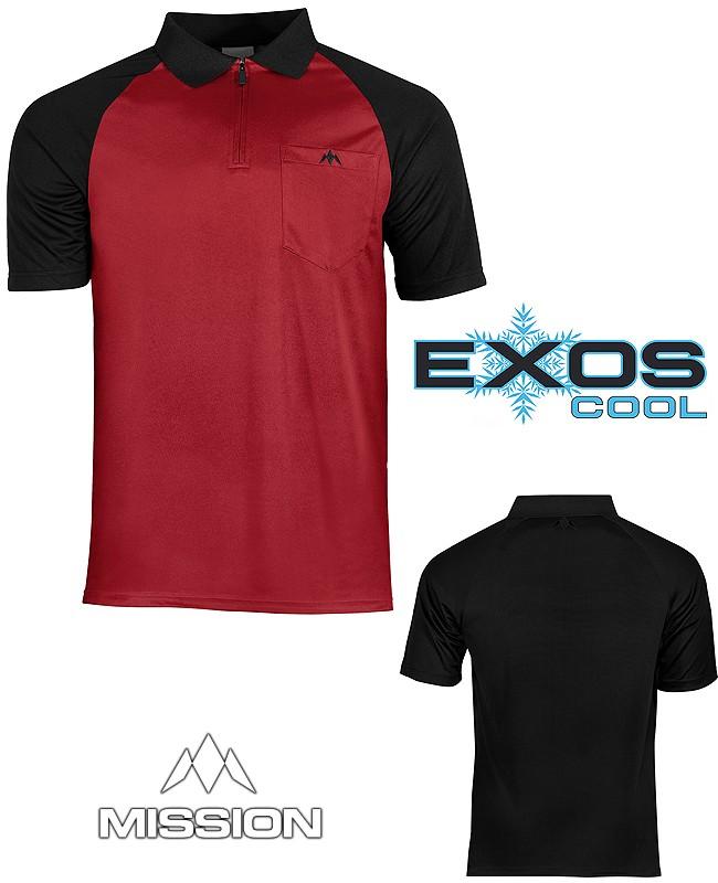 MISSION Shirt Exos Cool FX - Black/Red