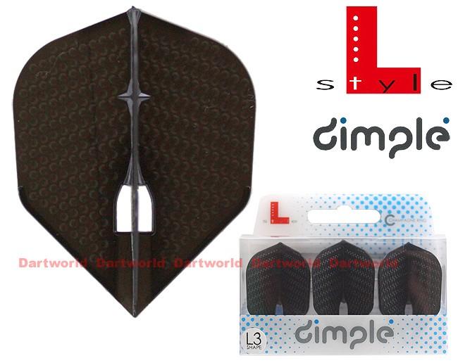 L-STYLE Champagne-Flights L3 Shape Dimple Black