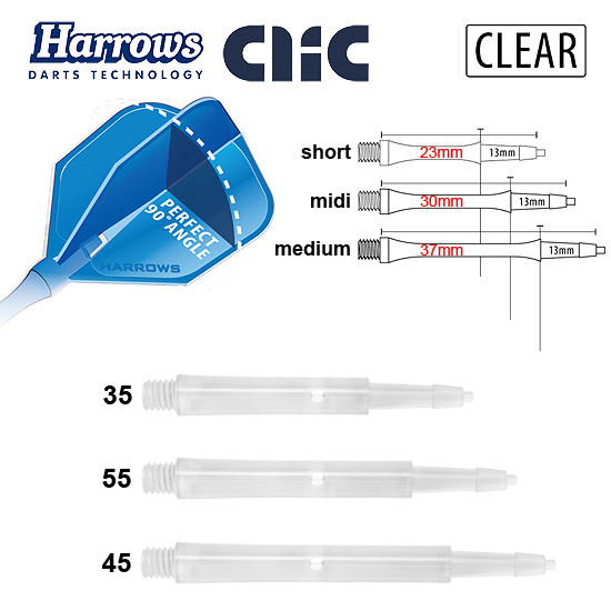 HARROWS Clic Shafts Standard clear