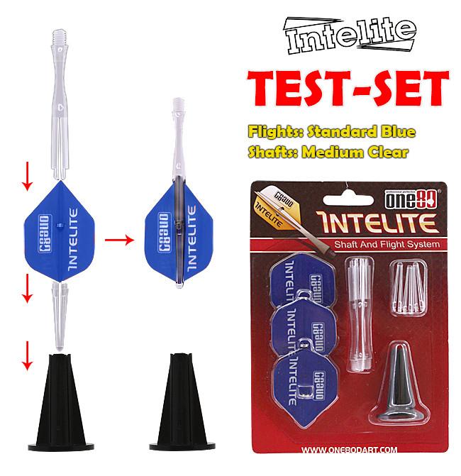 one80 Intelite Starter-Set Standard blue, Medium Shaft Clear *TESTSET*