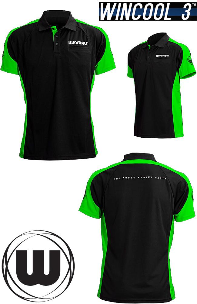 WINMAU Wincool 3 Dart Shirt neon green