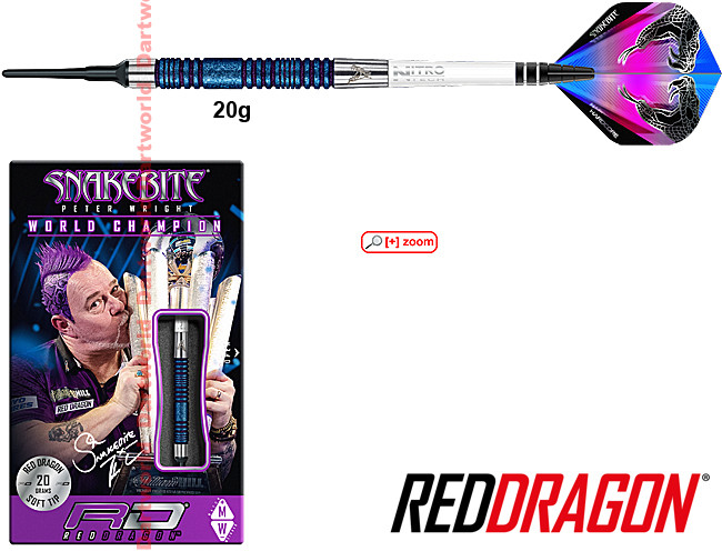 RED DRAGON Peter Wright Snakebite E11 Element Blue Edition