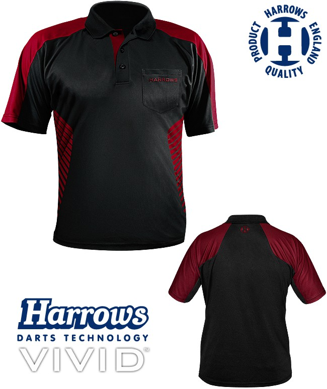 HARROWS Vivid Shirt black/deep-red (Dunkelrot)