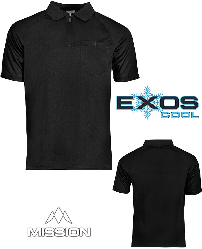 MISSION Shirt Exos Cool FX - Pure Black