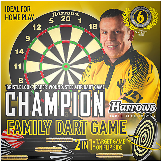 HARROWS Champions Family Dart Game (Paperboard)