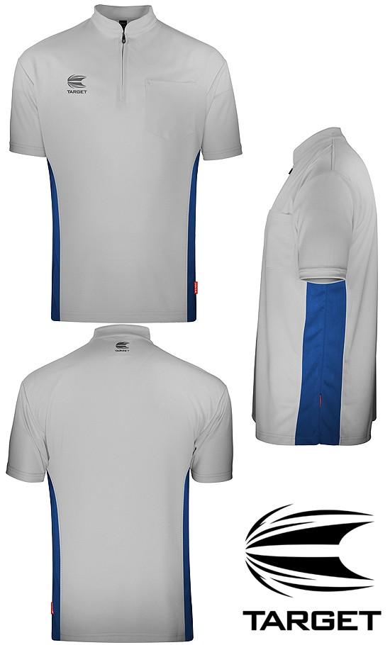 TARGET CP Collarless Shirt Light Grey/Blue