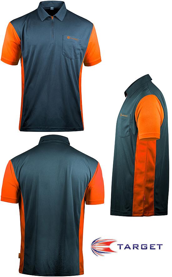 TARGET CP Hybrid 3 Shirt steel blue / orange