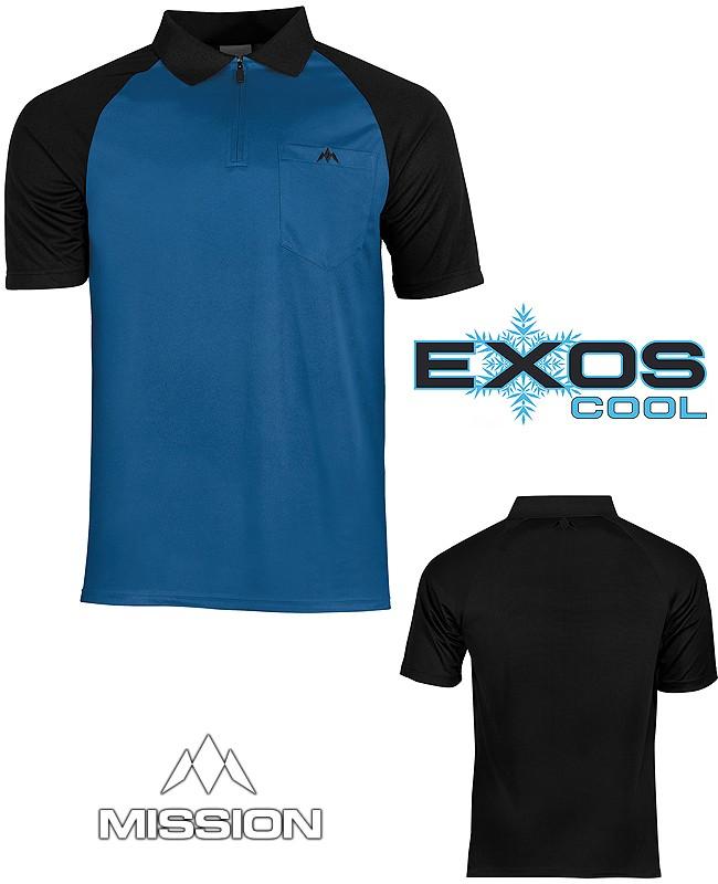 MISSION Shirt Exos Cool FX - Black/Blue