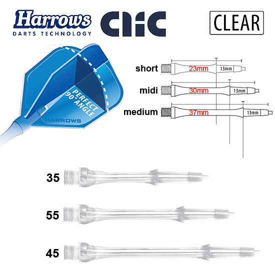 HARROWS Clic Shafts clear