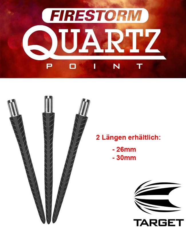 TARGET Firestorm Point Black Quartz