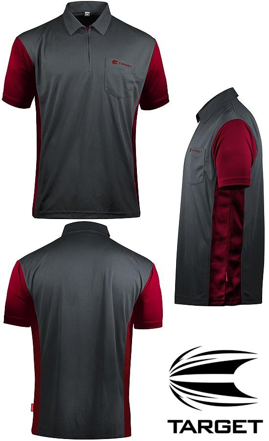 TARGET CP Hybrid 3 Shirt grey-ruby red