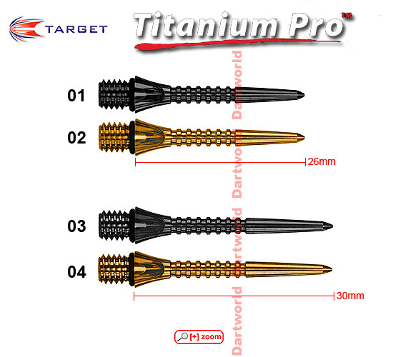 TARGET Titanium Conversion Grooved Points (black, gold)
