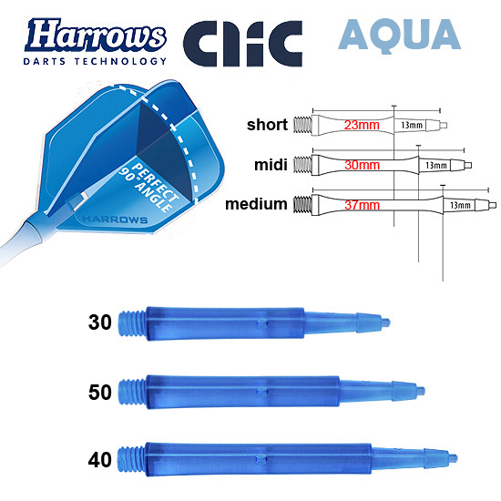 HARROWS Clic Shafts Standard aqua
