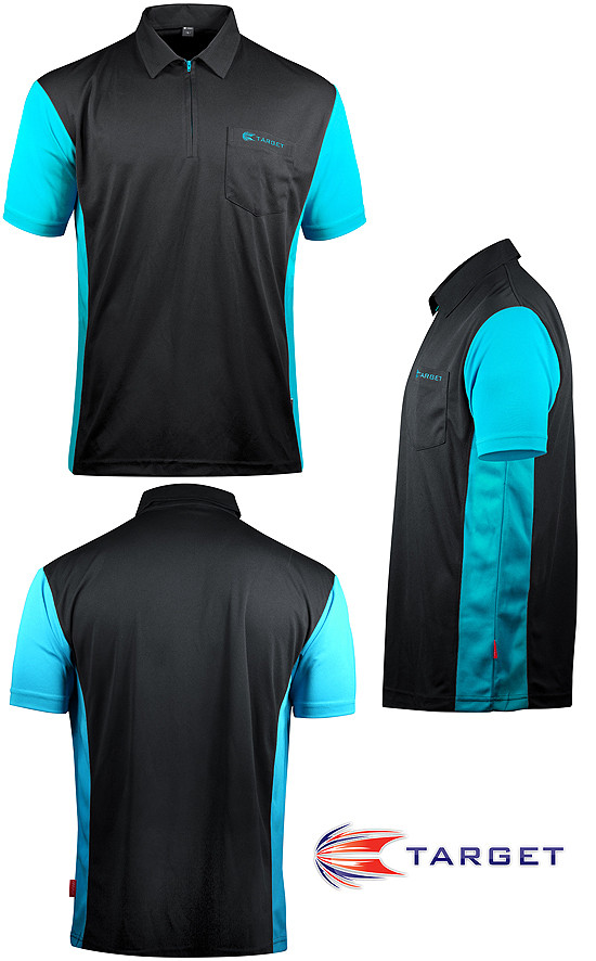 TARGET CP Hybrid 3 Shirt black / auqa blue