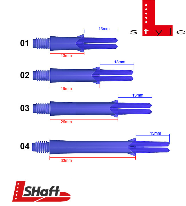 L-STYLE Shafts Locked Straight Blue