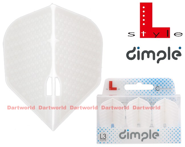 L-STYLE Champagne-Flights L3 Shape Dimple Pearl-White